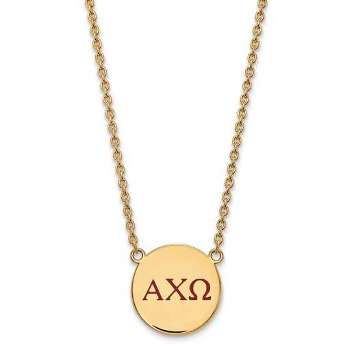 GP028ACO-18: SS w/GP LogoArt Alpha Chi Omega Large Enl Pend w/Necklace