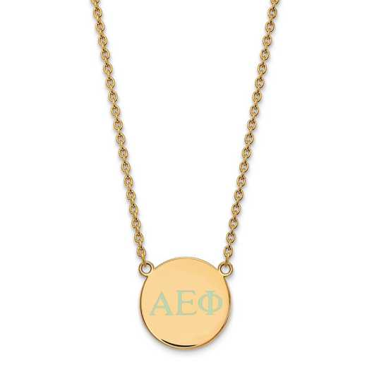 GP028AEP-18: SS w/GP LogoArt Alpha Epsilon Phi Small Enl Pend w/Necklace