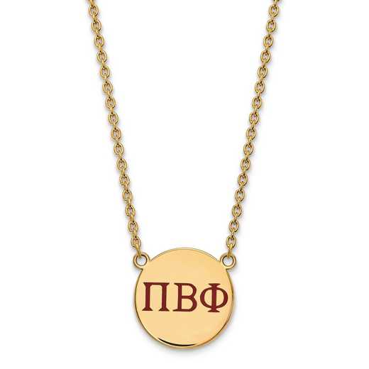 GP028PBP-18: SS w/GP LogoArt Pi Beta Phi Large Enl Pend w/Necklace