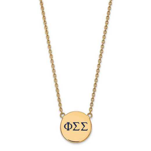 GP028PSS-18: SS w/GP LogoArt Phi Sigma Sigma Largel Enl Pend w/Necklace