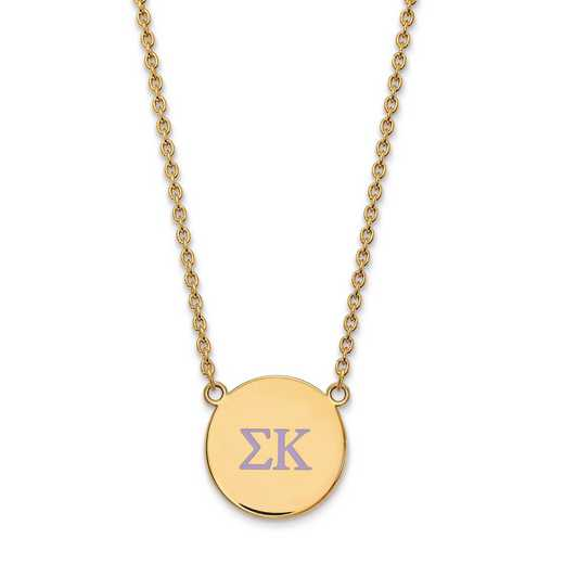 GP028SKP-18: SS w/GP LogoArt Sigma Kappa Large Enl Pend w/Necklace