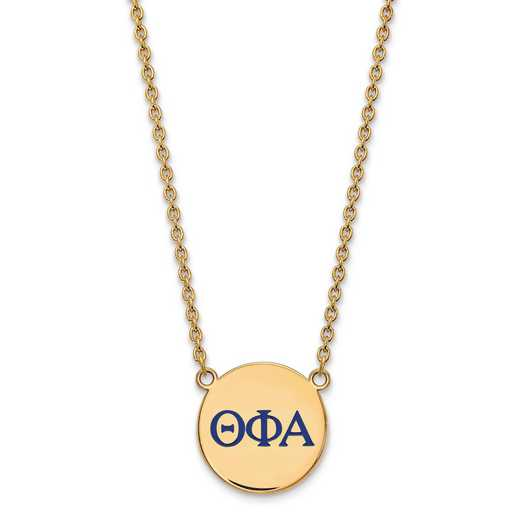 GP028TPA-18: SS w/GP LogoArt Theta Phi Alpha Large Enl Pend w/Necklace