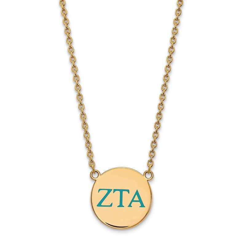 GP028ZTA-18: SS w/GP LogoArt Zeta Tau Alpha Large Enl Pend w/Necklace