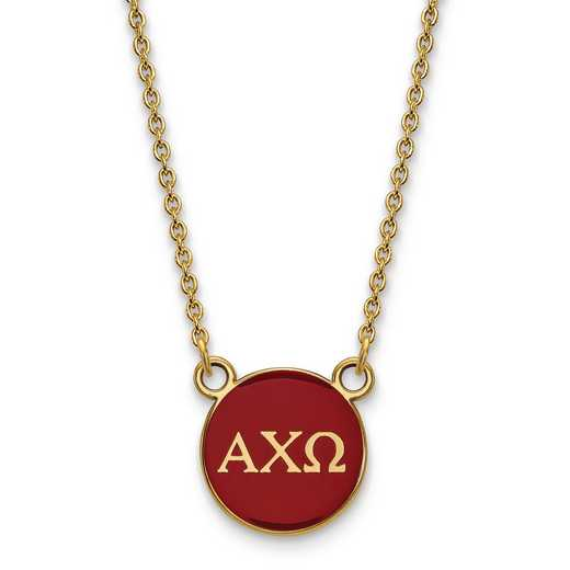 GP029ACO-18: SS w/GP LogoArt Alpha Chi Omega Small Enl Pend w/Necklace