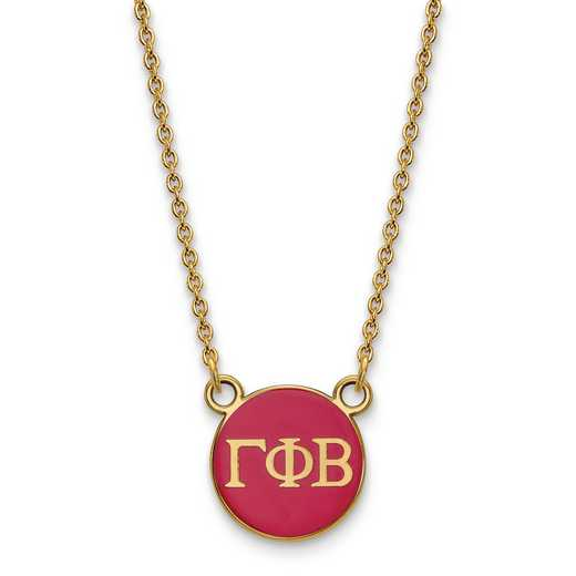 GP029GPB-18: SS w/GP LogoArt Gamma Phi Beta Sm Enl Pend w/Necklace