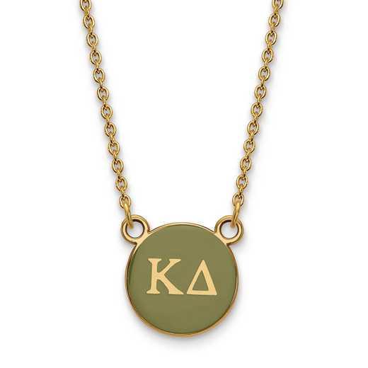GP029KD-18: SS w/GP LogoArt Kappa Delta Sm Enl Pend w/Necklace