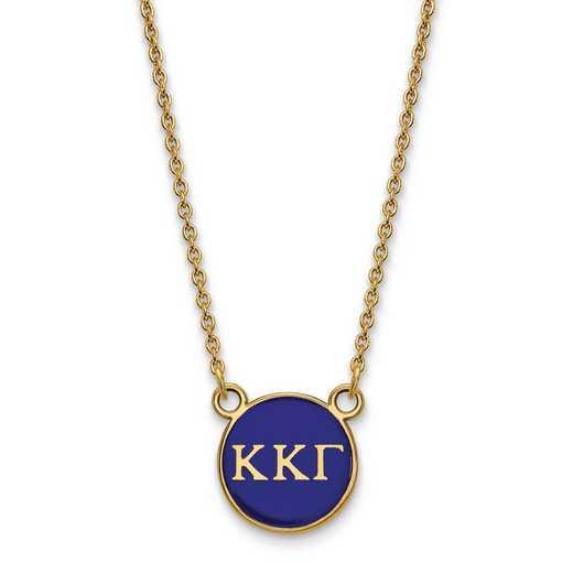 GP029KKG-18: SS w/GP LogoArt Kappa Kappa Gamma Sm Enl Pend w/Necklace