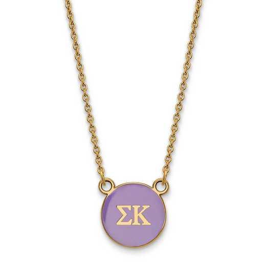 GP029SKP-18: SS w/GP LogoArt Sigma Kappa Sm Enl Pend w/Necklace
