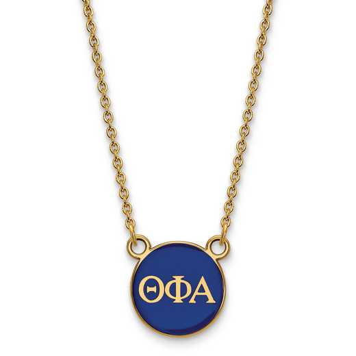 GP029TPA-18: SS w/GP LogoArt Theta Phi Alpha Sm Enl Pend w/Necklace