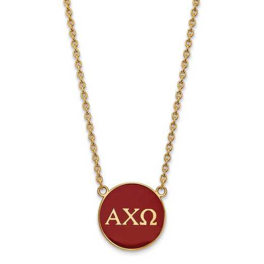 GP030ACO-18: SS w/GP LogoArt Alpha Chi Omega Large Enl Pend w/Necklace