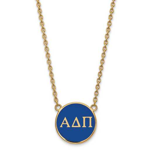 GP030ADP-18: SS w/GP LogoArt Alpha Delta Pi Large Enl Pend w/Necklace