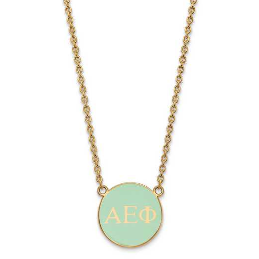 GP030AEP-18: SS w/GP LogoArt Alpha Epsilon Phi Small Enl Pend w/Necklace