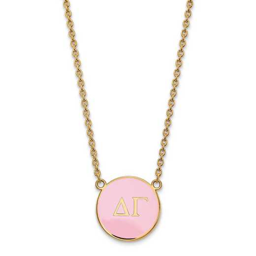 GP030DG-18: SS w/GP LogoArt Delta Gamma Large Enl Pend w/Necklace