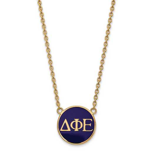 GP030DPH-18: SS w/GP LogoArt Delta Phi Epsilon Large Enl Pend w/Necklace
