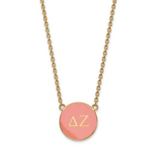 GP030DZ-18: SS w/GP LogoArt Delta Zeta Large Enl Pend w/Necklace