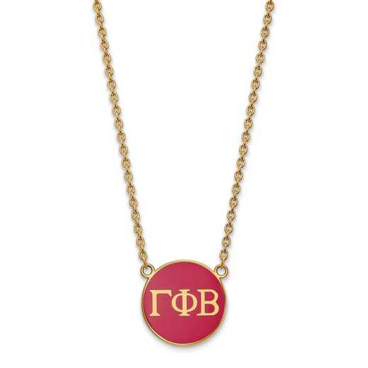 GP030GPB-18: SS w/GP LogoArt Gamma Phi Beta Large Enl Pend w/Necklace