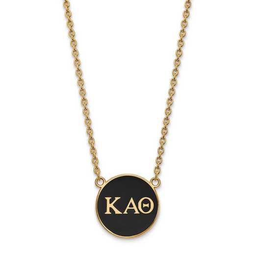 GP030KAT-18: SS w/GP LogoArt Kappa Alpha Theta Large Enl Pend w/Necklace