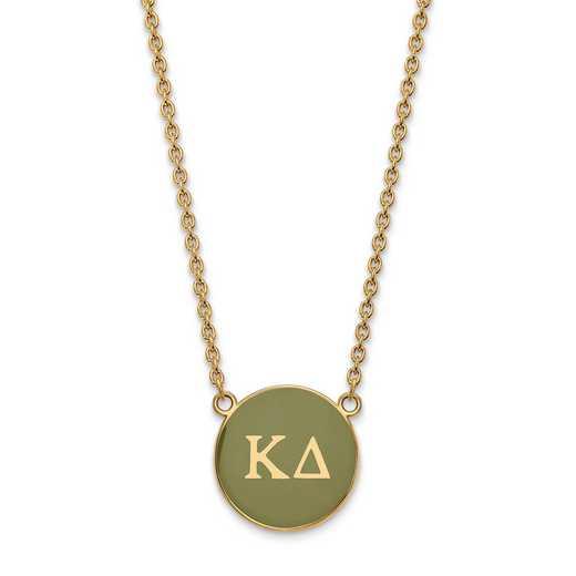 GP030KD-18: SS w/GP LogoArt Kappa Delta Large Enl Pend w/Necklace