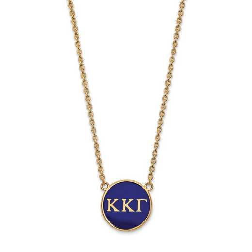 GP030KKG-18: SS w/GP LogoArt Kappa Kappa Gamma Large Enl Pend w/Necklace