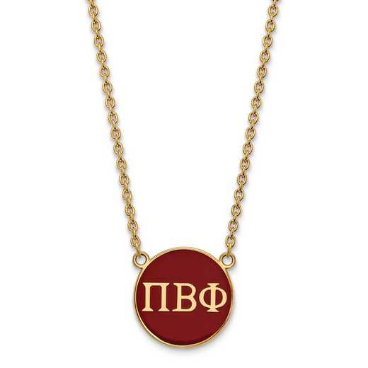 GP030PBP-18: SS w/GP LogoArt Pi Beta Phi Large Enl Pend w/Necklace