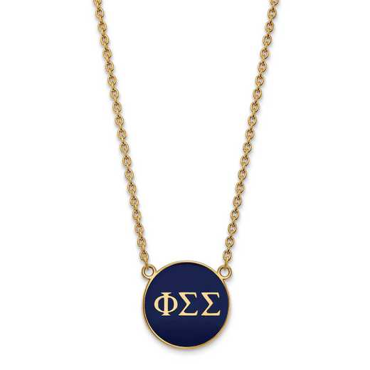 GP030PSS-18: SS w/GP LogoArt Phi Sigma Sigma Large Enl Pend w/Necklace