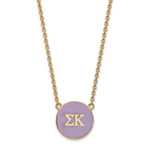 GP030SKP-18: SS w/GP LogoArt Sigma Kappa Large Enl Pend w/Necklace