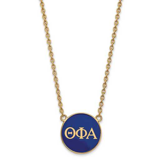GP030TPA-18: SS w/GP LogoArt Theta Phi Alpha Large Enl Pend w/Necklace