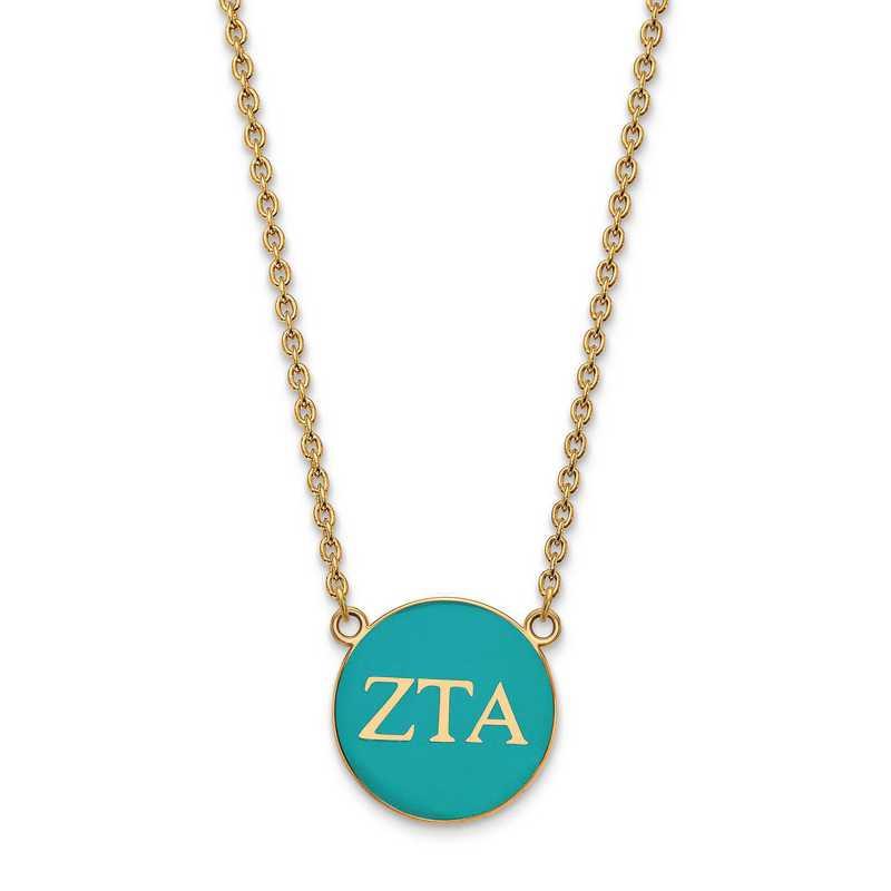 GP030ZTA-18: SS w/GP LogoArt Zeta Tau Alpha Large Enl Pend w/Necklace