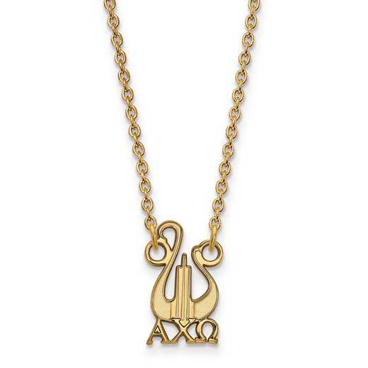 GP039ACO-18: SS w/GP LogoArt Alpha Chi Omega Small Pend w/Necklace
