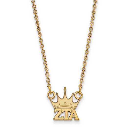 GP039ZTA-18: SS w/GP LogoArt Zeta Tau Alpha XS Pend w/Necklace