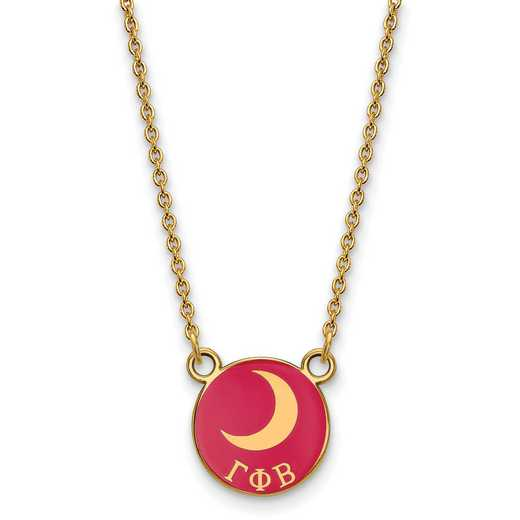 GP042GPB-18: SS w/GP LogoArt Gamma Phi Beta Sm Enl Pend w/Necklace