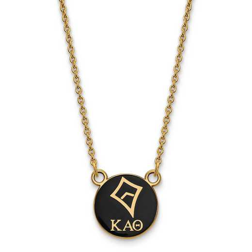 GP042KAT-18: SS w/GP LogoArt Kappa Alpha Theta Sm Enl Pend w/Necklace