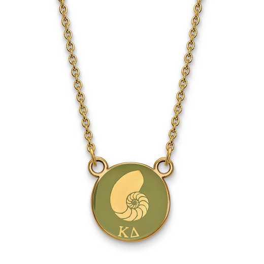 GP042KD-18: SS w/GP LogoArt Kappa Delta Sm Enl Pend w/Necklace