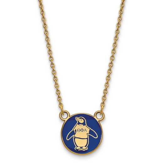 GP042TPA-18: SS w/GP LogoArt Theta Phi Alpha Sm Enl Pend w/Necklace