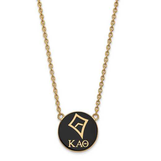 GP043KAT-18: SS w/GP LogoArt Kappa Alpha Theta Large Enl Pend w/Necklace