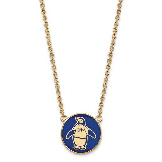 GP043TPA-18: SS w/GP LogoArt Theta Phi Alpha Large Enl Pend w/Necklace