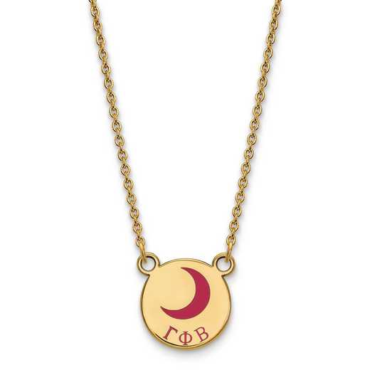GP044GPB-18: SS w/GP LogoArt Gamma Phi Beta Sm Enl Pend w/Necklace