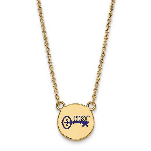 GP044KKG-18: SS w/GP LogoArt Kappa Kappa Gamma Sm Enl Pend w/Necklace
