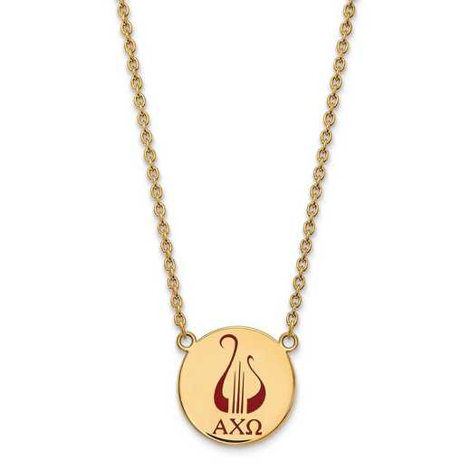 GP045ACO-18: SS w/GP LogoArt Alpha Chi Omega Large Enl Pend w/Necklace