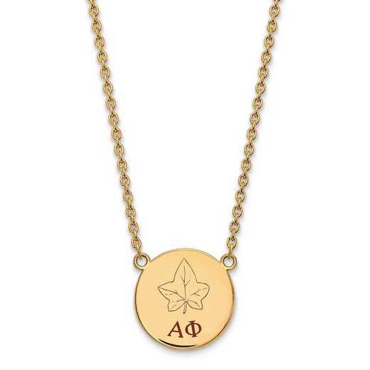 GP045APH-18: SS w/GP LogoArt Alpha Phi Large Enl Pend w/Necklace