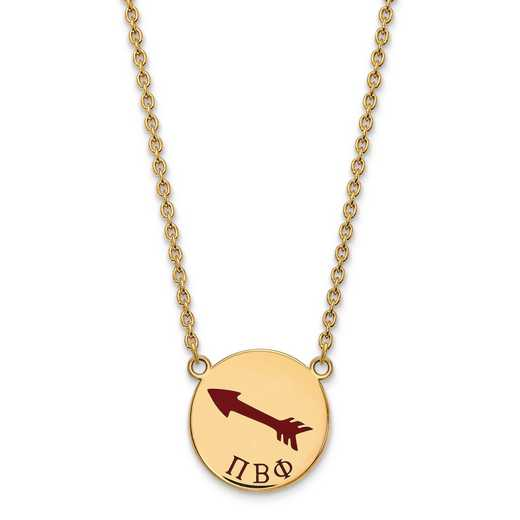 GP045PBP-18: SS w/GP LogoArt Pi Beta Phi Large Enl Pend w/Necklace