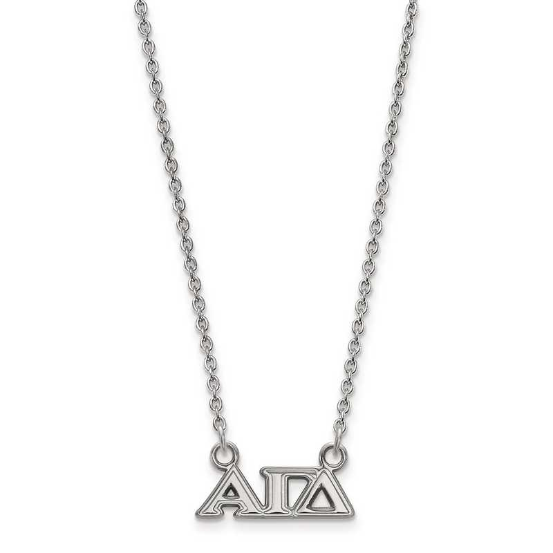 SS006AGD-18: SS LogoArt Alpha Gamma Delta XS Pend w/Necklace