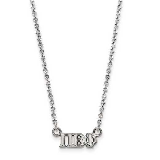 SS006PBP-18: SS LogoArt Pi Beta Phi XS Pend w/Necklace