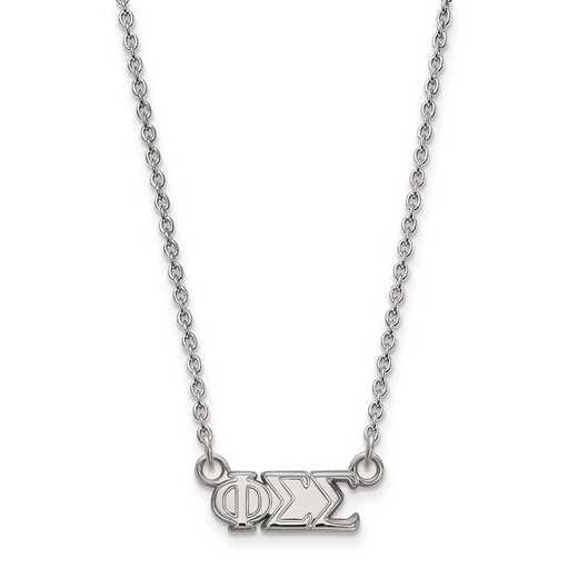 SS006PSS-18: SS LogoArt Phi Sigma Sigma XS Pend w/Necklace