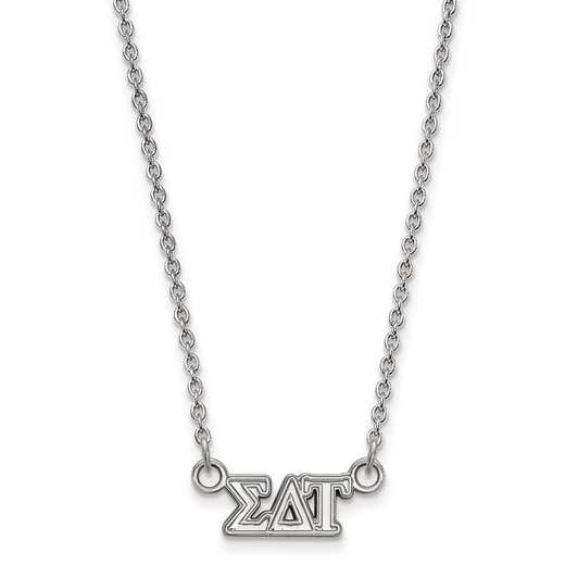 SS006SDT-18: SS LogoArt Sigma Delta Tau XS Pend w/Necklace