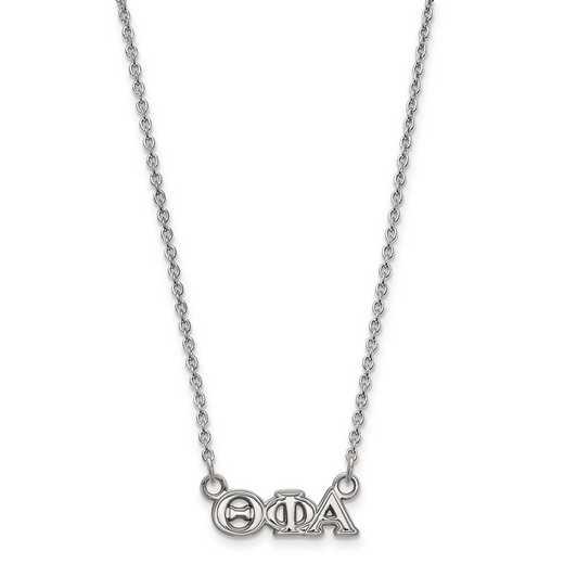 SS006TPA-18: SS LogoArt Theta Phi Alpha XS Pend w/Necklace