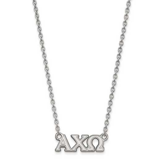 SS007ACO-18: SS LogoArt Alpha Chi Omega Small Pend w/Necklace