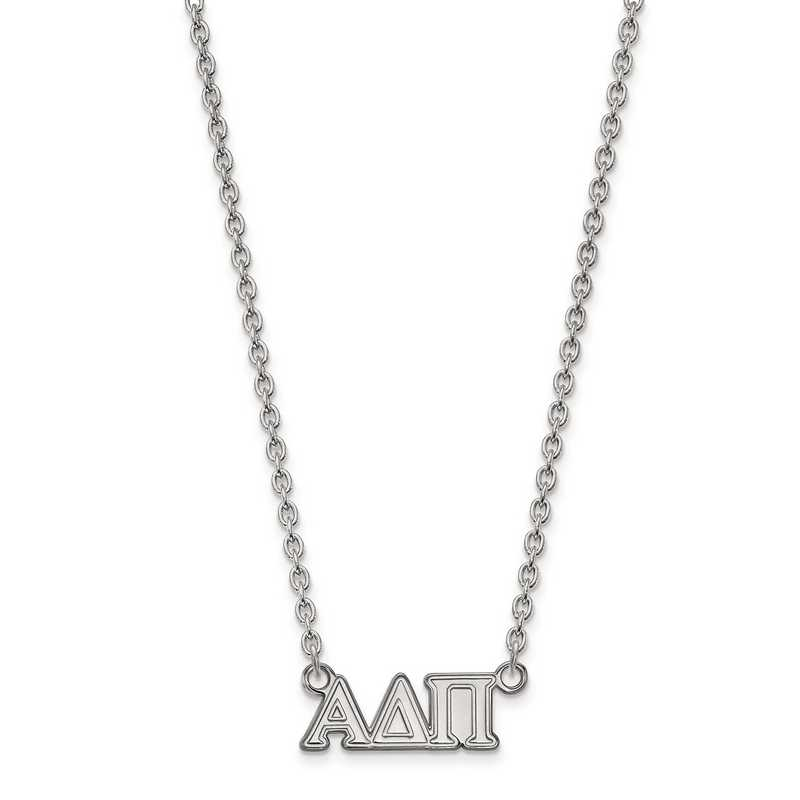 SS007ADP-18: SS LogoArt Alpha Delta Pi Medium Pend w/Necklace