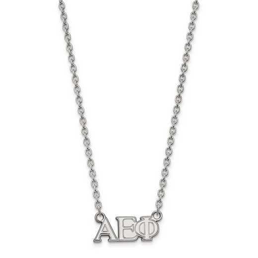 SS007AEP-18: SS LogoArt Alpha Epsilon Phi Medium Pend w/Necklace