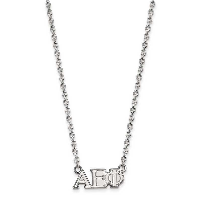SS007AEP-18: SS LogoArt Alpha Epsilon Phi Medium Pend w/Necklace